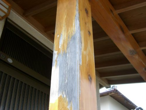 福津市花見ヶ丘木部の塗装剥離