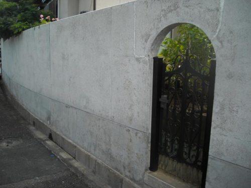 北九州市八幡西区光貞台一般住宅塀の塗装工事前