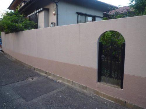 北九州市八幡西区光貞台一般住宅塀の塗装工事ビフォー