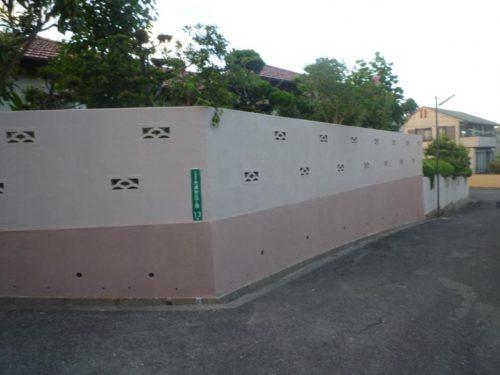 北九州市八幡西区光貞台一般住宅塀の塗装後