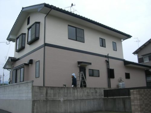 北九州市八幡西区楠橋、住宅外壁塗装工事ビフォー2