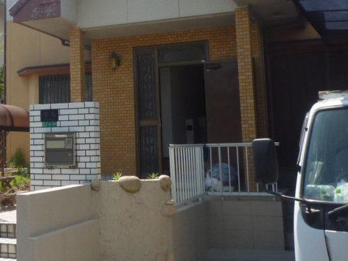 北九州市八幡西区本城外構部分塗装工事前