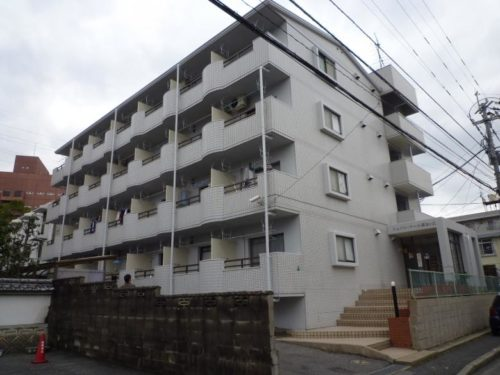 北九州市八幡西区医生ヶ丘アパート、外壁塗装完了