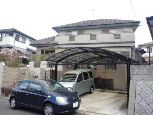 宗像市三倉、住宅、屋根外壁塗装工事前
