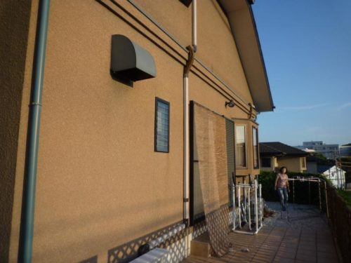 宗像市三倉壁面塗装ビフォー