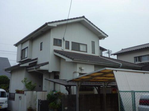 北九州市八幡西区大平台、外壁塗装施工前