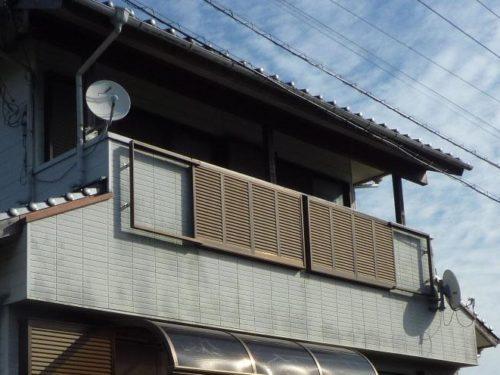 福津市若木台、ベランダ部分の施工前画像