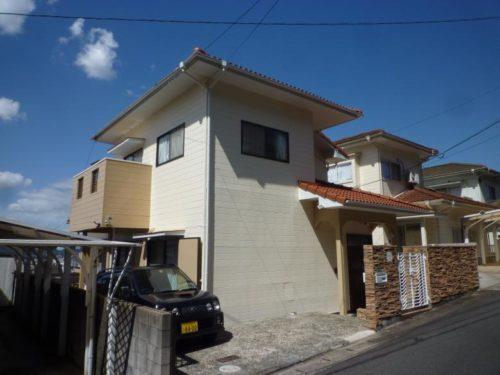 北九州市小倉北区霧ヶ丘、クリーム、ベージュ系で塗り替え