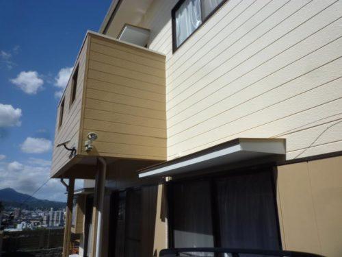 北九州市小倉北区霧ヶ丘、壁面の塗装アフター