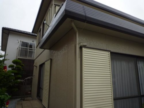 北九州市小倉南区上貫、壁面雨戸塗り替え後