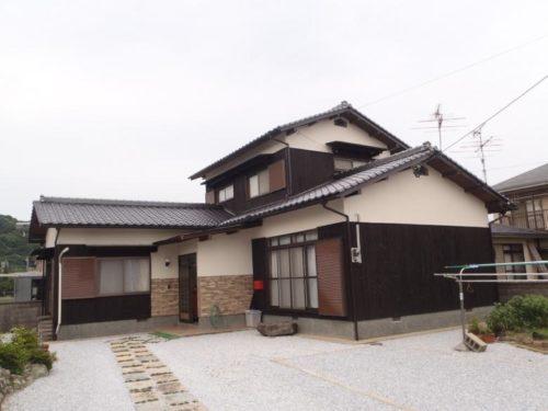 芦屋町山鹿、日本家屋塗装工事アフター