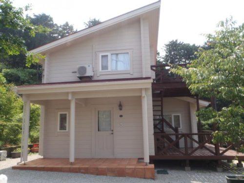 糸島市雷山、コテージ風住宅塗装工事完了画像