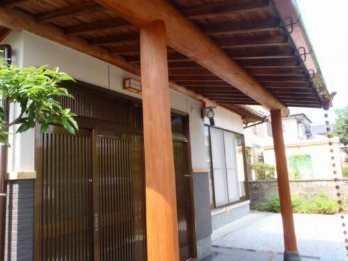 岡垣町旭台、蘇った玄関の柱