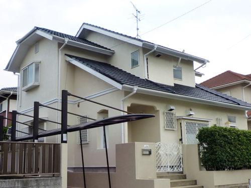鞍手郡鞍手町、一般住宅外壁・屋根塗装完了画像